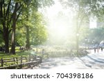sunny day in new york city park ... | Shutterstock . vector #704398186