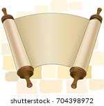 papyrus on a white background.... | Shutterstock .eps vector #704398972