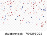 red and blue confetti and... | Shutterstock .eps vector #704399026