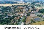 aerial top view of fonserannes...   Shutterstock . vector #704409712