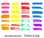 vector color highlighter brush... | Shutterstock .eps vector #704415166