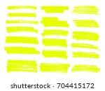 vector highlighter brush lines. ... | Shutterstock .eps vector #704415172