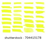 vector highlighter brush lines. ... | Shutterstock .eps vector #704415178