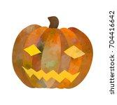 jack o lantern. funny cartoon... | Shutterstock .eps vector #704416642