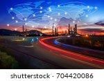global partner connection of... | Shutterstock . vector #704420086