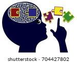 teaching kids thinking skills....   Shutterstock . vector #704427802