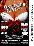 design poster with oktoberfest... | Shutterstock .eps vector #704427826