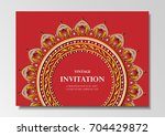 invitation card vintage design... | Shutterstock .eps vector #704429872