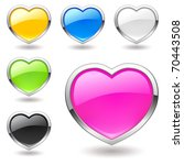 Heart  Buttons  Multicolor...