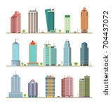 modern city buildings and... | Shutterstock .eps vector #704437072