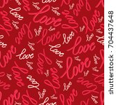 Seamless Pattern With Word Lov...