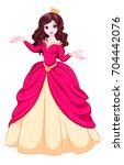 princess | Shutterstock .eps vector #704442076