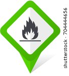 flame green square pointer... | Shutterstock .eps vector #704444656