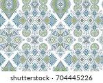 vector hand drawn ethnic... | Shutterstock .eps vector #704445226