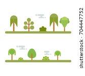 tree icon set  green park zone | Shutterstock .eps vector #704447752