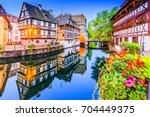 strasbourg  alsace  france.... | Shutterstock . vector #704449375