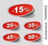 vector illustration of sale... | Shutterstock .eps vector #70444963