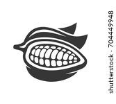 chocolate cocoa beans icon.    Shutterstock . vector #704449948