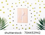 flowers  branches of palm trees ... | Shutterstock . vector #704452942