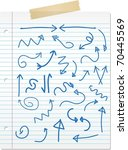 hand drawn doodle arrows on... | Shutterstock .eps vector #70445569