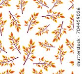 seamless pattern with autumn... | Shutterstock .eps vector #704459026