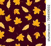 seamless pattern with autumn... | Shutterstock .eps vector #704459032