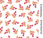 seamless pattern with autumn... | Shutterstock .eps vector #704460412