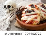 Halloween Mummies Mini Pizzas...