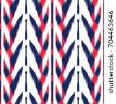 ikat seamless pattern design...   Shutterstock . vector #704463646