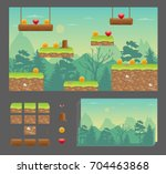 platformer game design set ...