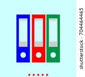 folders  set  icon . | Shutterstock .eps vector #704464465