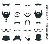 mens beard and moustache styles ... | Shutterstock .eps vector #704464555