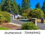 luxury house in vancouver ... | Shutterstock . vector #704469442