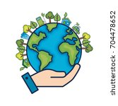 ecology earth planet to... | Shutterstock .eps vector #704478652