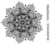 mandalas for coloring book....   Shutterstock .eps vector #704483986