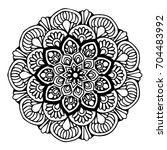 mandalas for coloring book.... | Shutterstock .eps vector #704483992