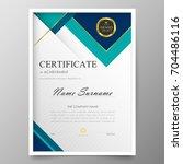 certificate premium template... | Shutterstock .eps vector #704486116