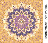 islamic floral pattern in... | Shutterstock .eps vector #704490406