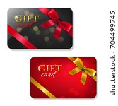 gift cards big set  | Shutterstock . vector #704499745