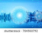 digital and connection concept... | Shutterstock . vector #704503792
