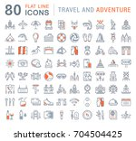 set of line icons  sign and... | Shutterstock . vector #704504425