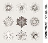 mandala. geometric circular... | Shutterstock . vector #704508406