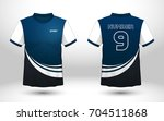 blue and white layout football... | Shutterstock .eps vector #704511868
