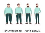 visualization of weight loss... | Shutterstock .eps vector #704518528