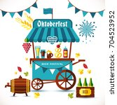 beer festival illustration of... | Shutterstock .eps vector #704523952