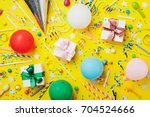 birthday party background with... | Shutterstock . vector #704524666