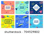 memphis style banner templates... | Shutterstock .eps vector #704529802