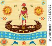 the mythological ra  the god of ... | Shutterstock .eps vector #704537332