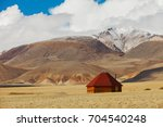 altai ail in mountains. russia... | Shutterstock . vector #704540248
