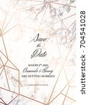 save the date design template.... | Shutterstock .eps vector #704541028